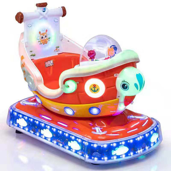 Plastic space airship without head kiddie ride machine