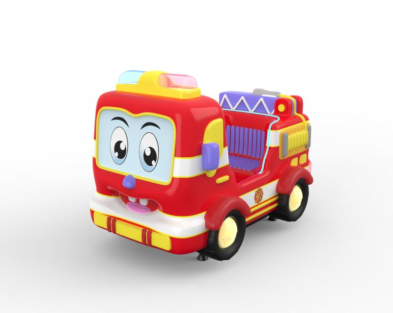 Dinibao Cute Fire Fighting Truck Kiddie Rides Coin Operated Ride Machine