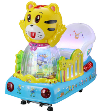 Coin operated swing ride tiger kiddie ride machine for sale