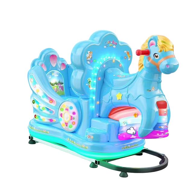 Indoor and outdoor amusement kids games Plastic Small pony  kiddie ride machine