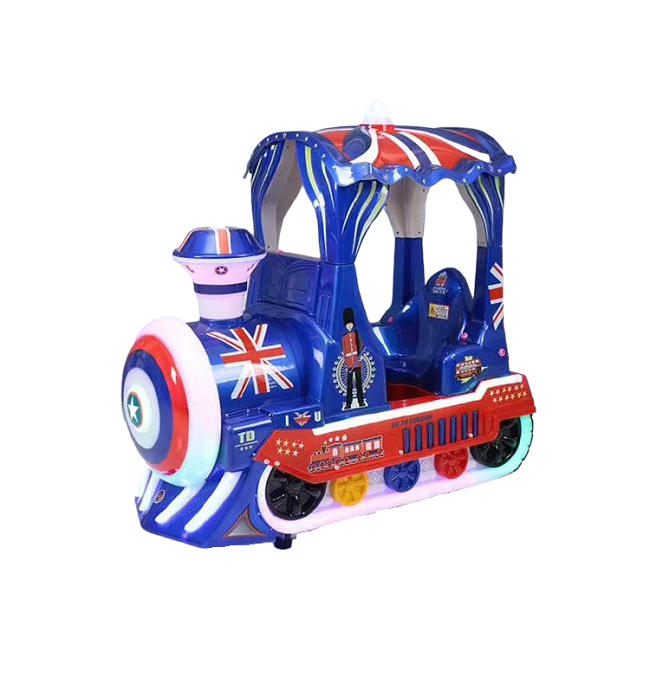 Cute WUWU Train kiddie ride for sale coin operated arcade kids game machines