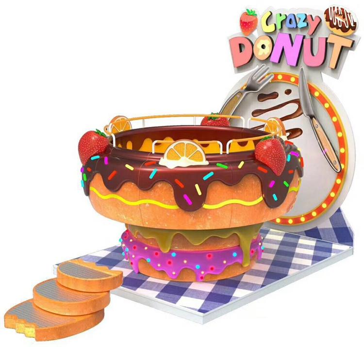 10 players kids Crazy Donut game machine