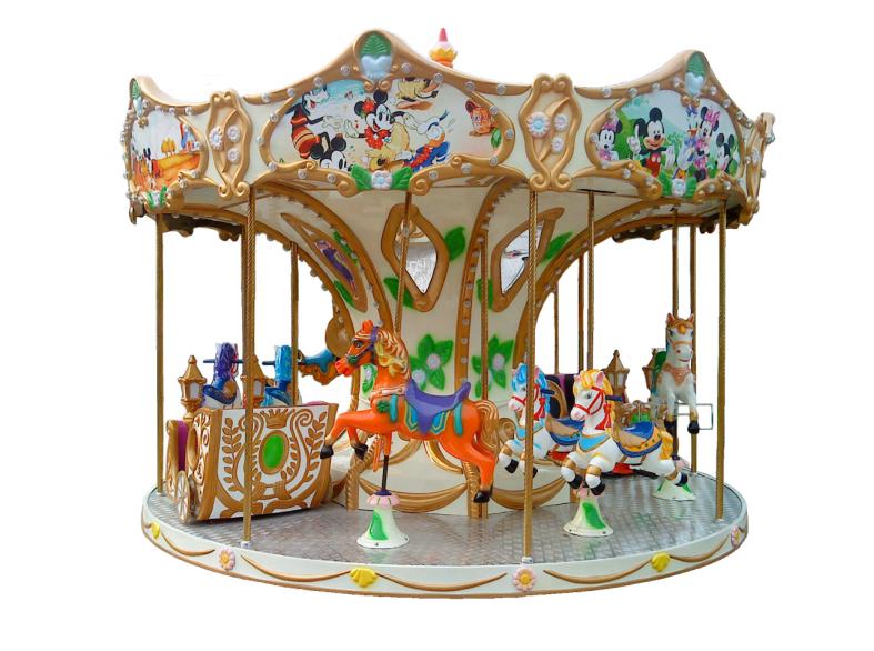 Low Price 12 Players Luxury Kids Carousel Ride Arcade Game Machine For Playground