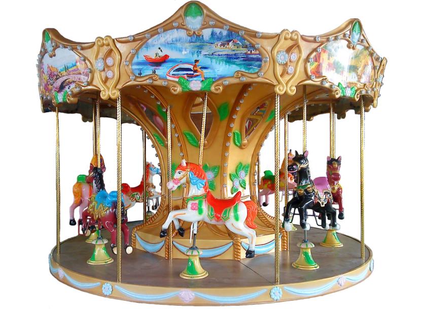 China Cheap 8 Players Luxury Carousel Horses Kiddie Ride Machine