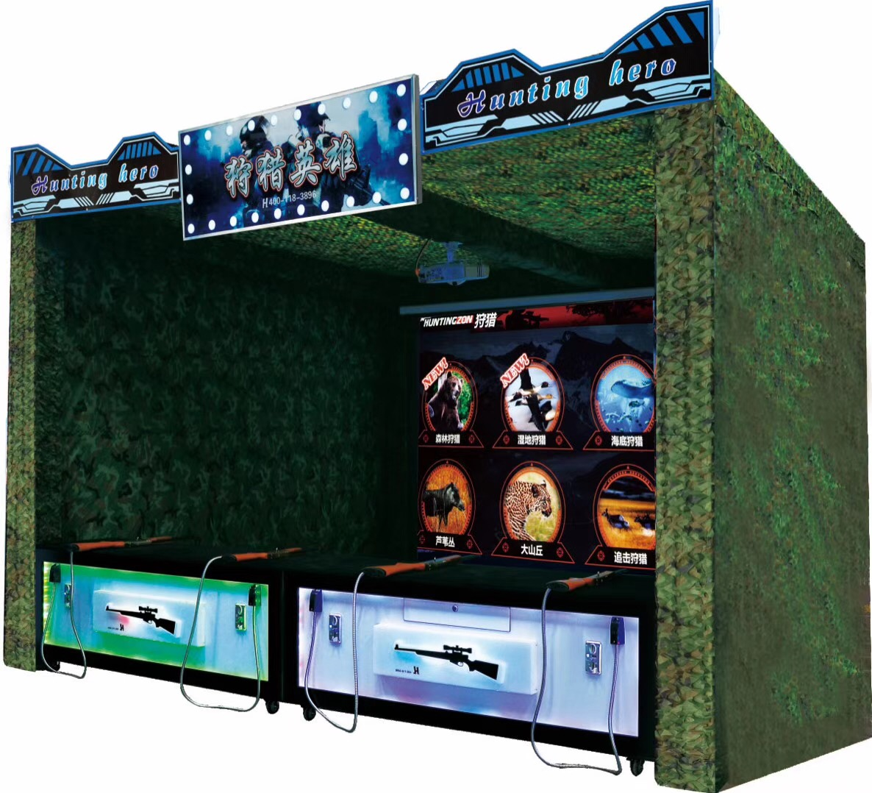 Virtual Reality 3D effect real sense hunting air gun hunter hero 2 arcade simulator shooting game