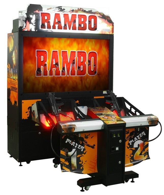 55 LCD coin opereted amusement rambo shooting games simulator gun shooting arcade game machine
