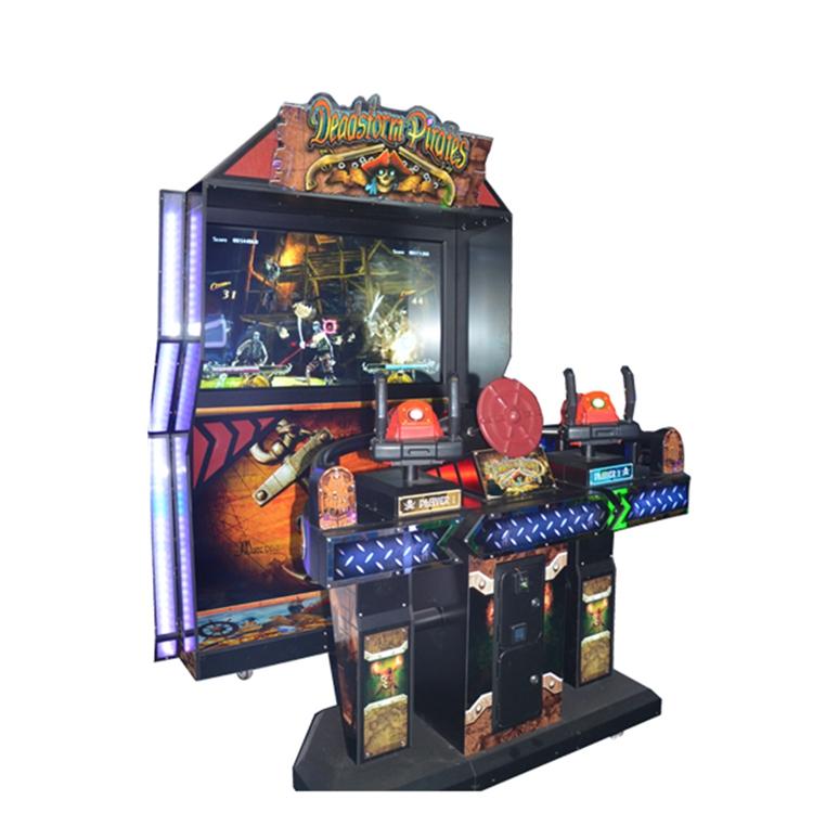 Guangzhou factory price standing dead storm pirates simulator gun shooting arcade game machine