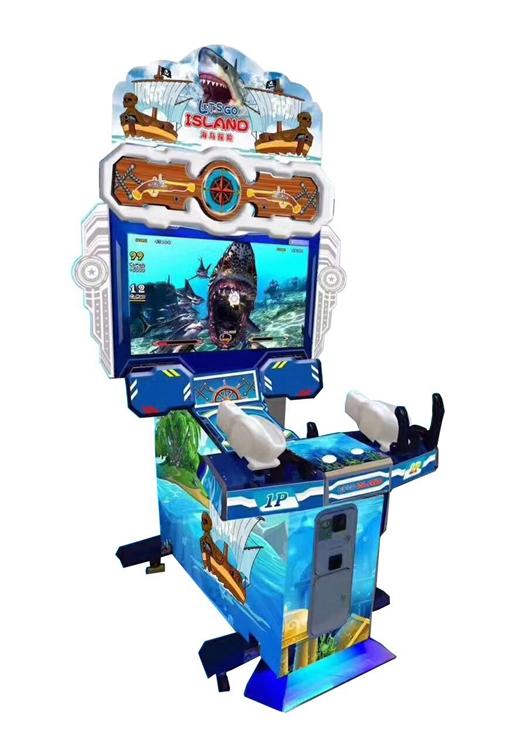 42LCD Coin operated simulator arcade Island Adventure video laser gun shooting game machine