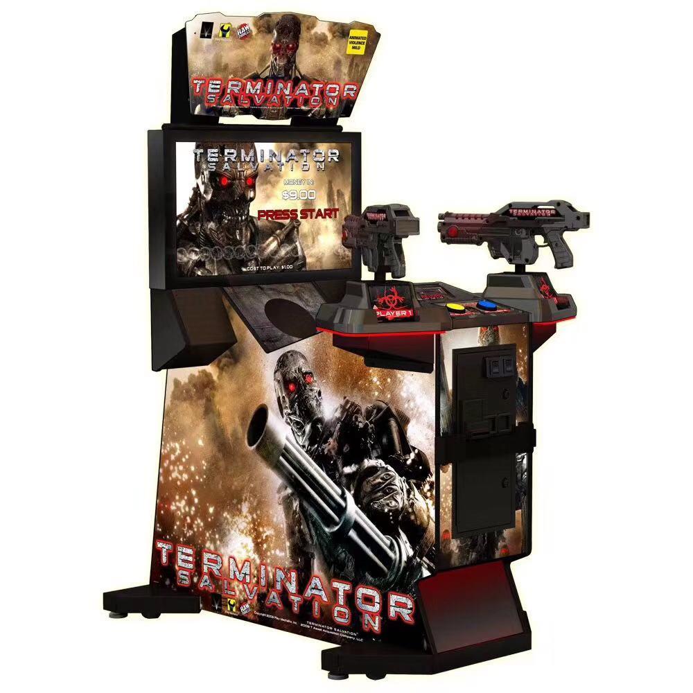 Wholesale 32 LCD Gun Shooting Simulator Terminator Salvation Arcade Game Machine For Game Center