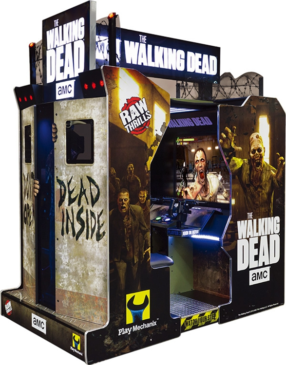 Wholesale amusement coin operated simulator 55 LCD the walking dead shooting arcade game machine