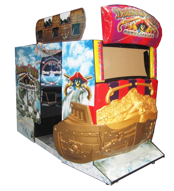 Coin operated 55LCD dead storm pirates laser simulator shooting arcade video game machine