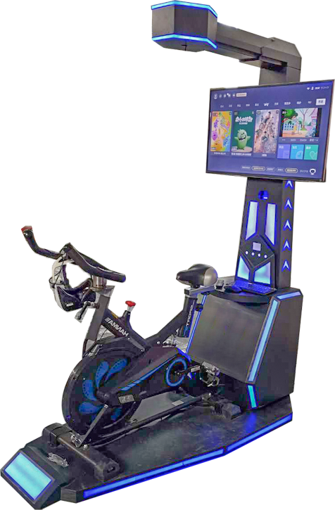 New arrival cheep 9D VR bicycle simulator game machine