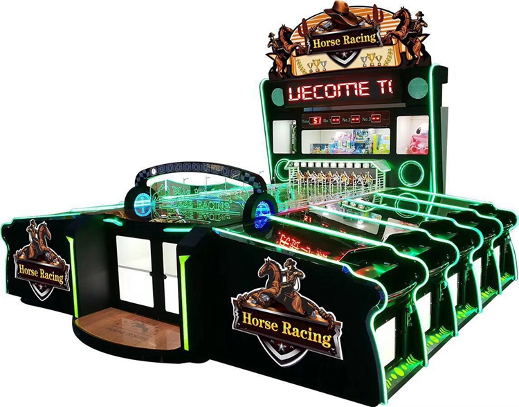 10 players Carnival Horse racing arcade booth game machine
