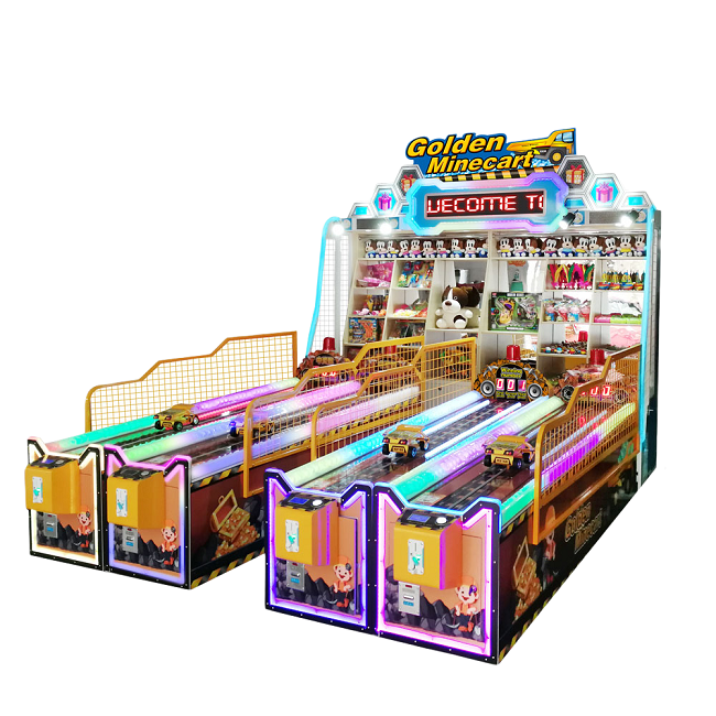Dinibao New Arrivals Carnival Golden Minecart arcade booth game machine