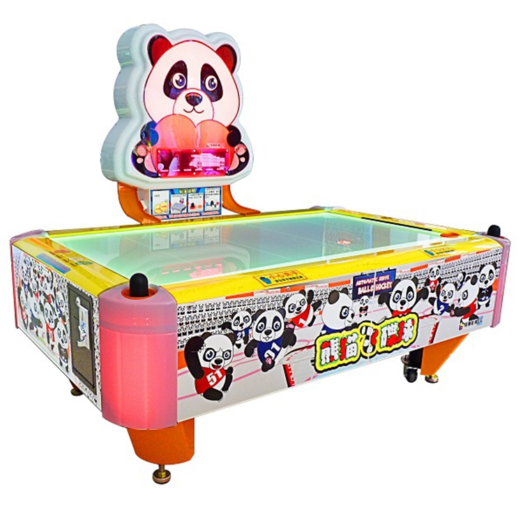 coin pusher panda style air hockey lottery game machine