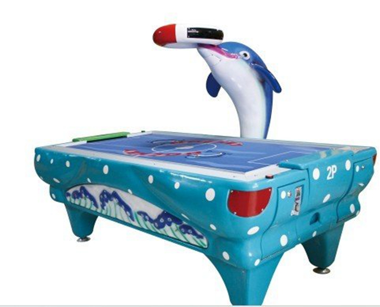 Coin pusher Dolphin air hockey lottery game machine for indoor amusement park