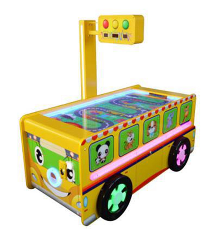 coin pusher Bus style air hockey lottery game machine
