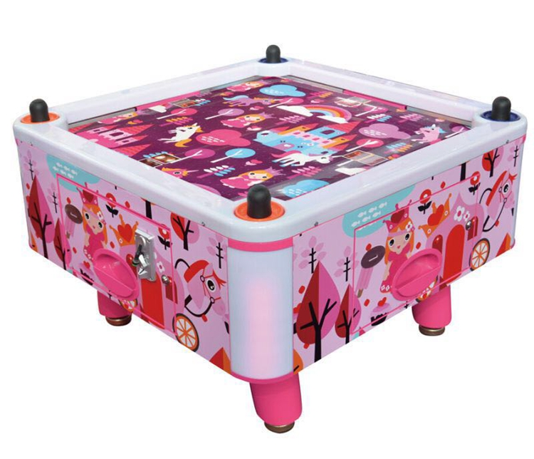 cute style coin pusher arcade air hockey Pink Princess lottery games