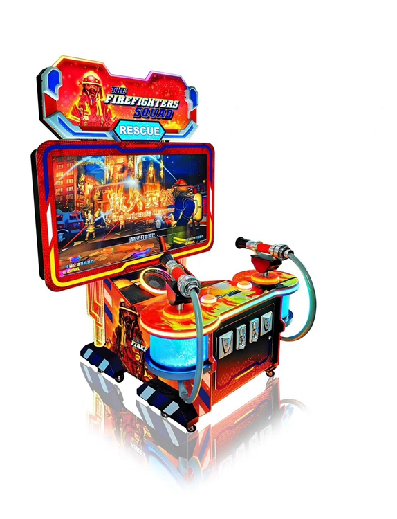 Diniboa Firefighters Shooting Arcade Ticket Game Machine