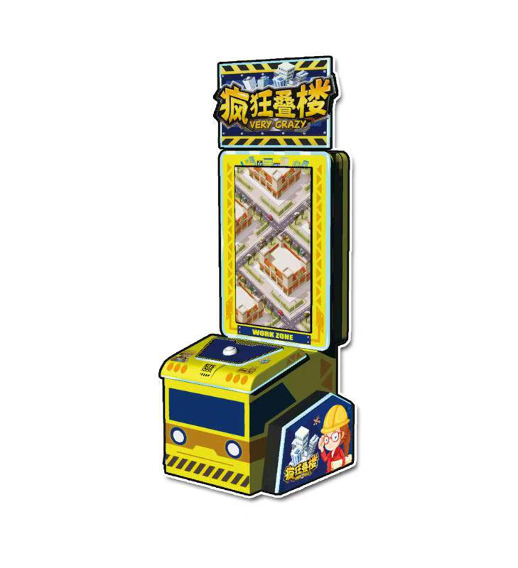 2020 new style  indoor coin operated Crazy Stack redemption game machine for sale