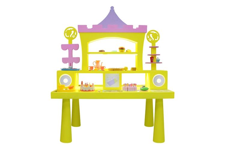 Hot sale  kids DIY building block table Happy Kitchen for sale