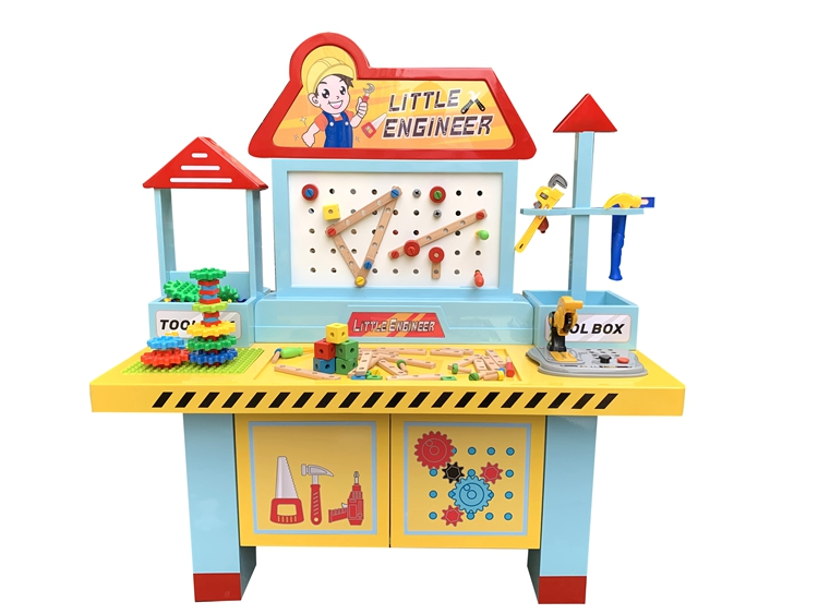 kids DIY building block table  Little Engineer toy machine