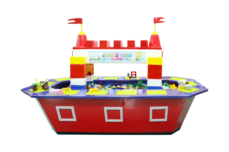 New design children building blocks Paradise building Block table for sale