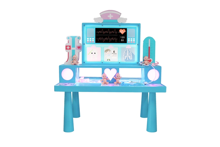 educational intelligent toy machine kids DIY building block table Little Docotor
