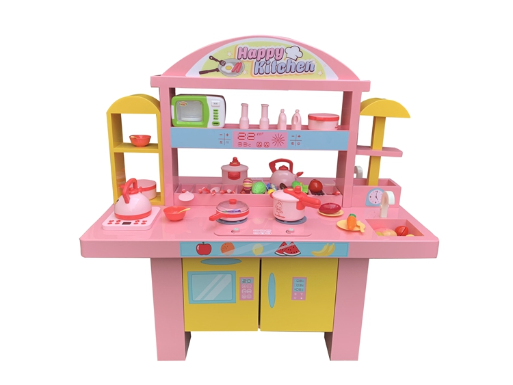 Educational intelligent toy machine kids DIY building block table Happy Kitchen