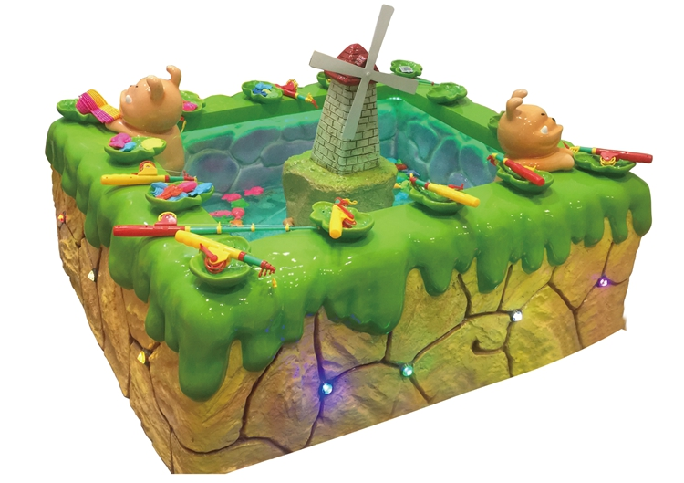 New coming indoor children fish catching pond fishing game machine for sale