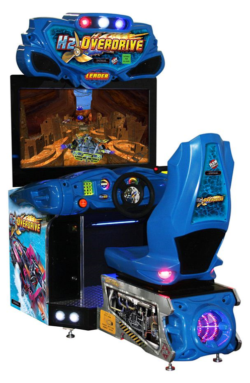 China factory sale H2 Overdrive transformers speed car driving simulator racing arcade game machine