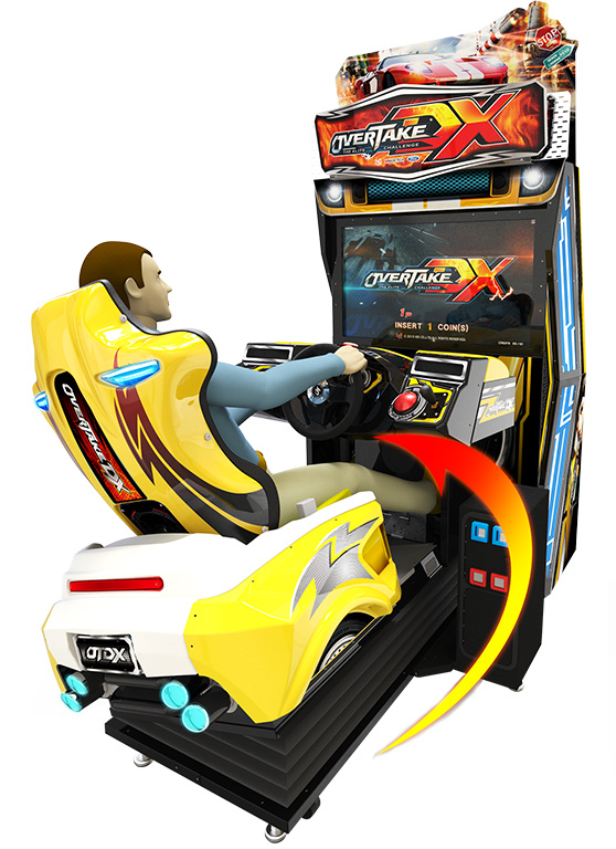 Coin operated  42 LCD overtake DX arcade driving game simulator racing  arcade game machine