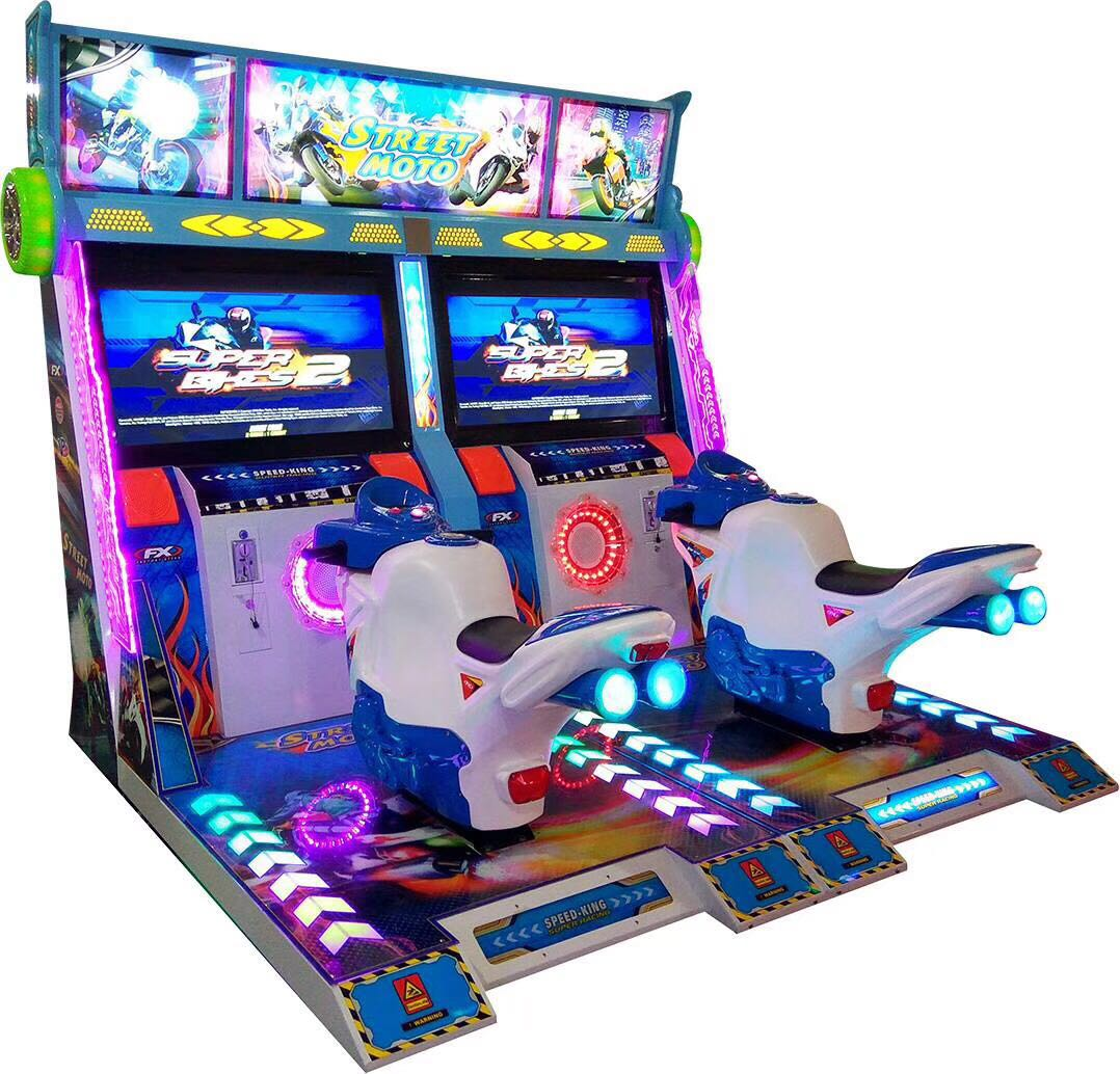 42 inch arcade coin operated video simulator racing street moto double players driving games machine