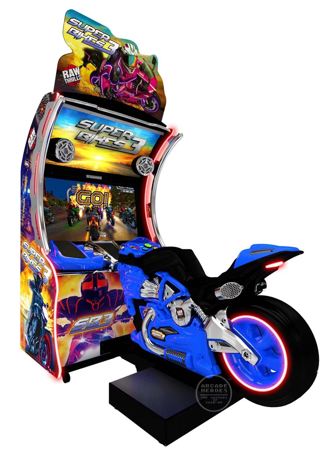 Hotselling super bike 3 simulator motorcycle racing arcade game machine for game center