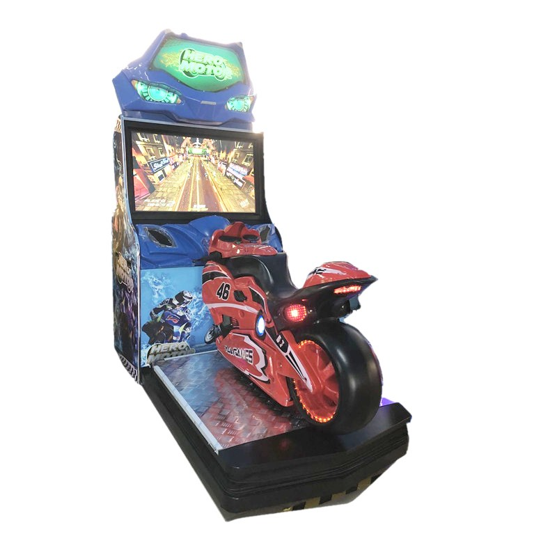 High Quality arcade Hero motor simulator indoor amusement motor arcade racing game machine