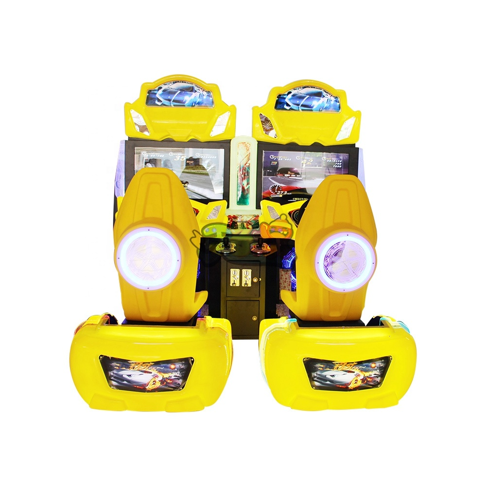 Luxury outrun racing car double coin operated transformer design car simulator racing game machine