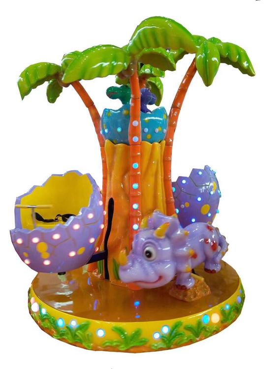 3 Seat Cheap Kiddie Ride Kids Dinosaur Park Carousel