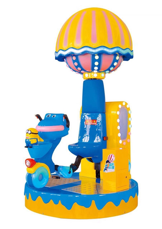 Indoor Electronic Happy Bicycle Kiddie Ride Kids Mini Carousel Happy Rotating Riding Bicycle