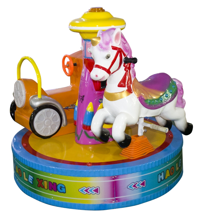 factory price 2 players kids carousel ride for kids playground