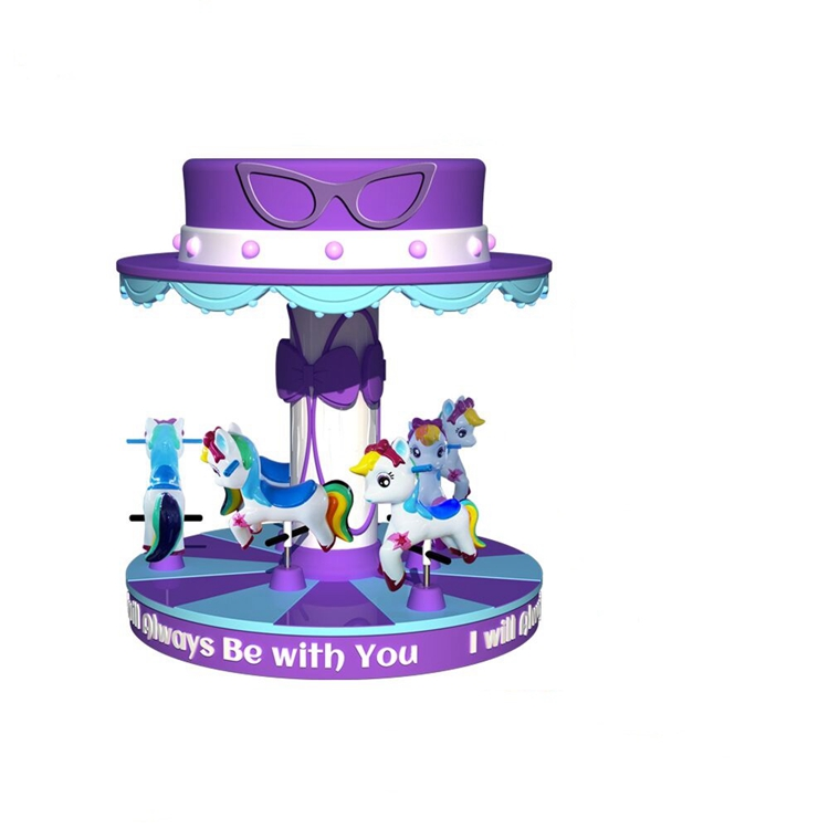 Cute and lovely fairy tale world style 6 player kid carousel ride for sale