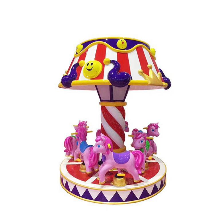 European Style 6 players carousel ride merry go round