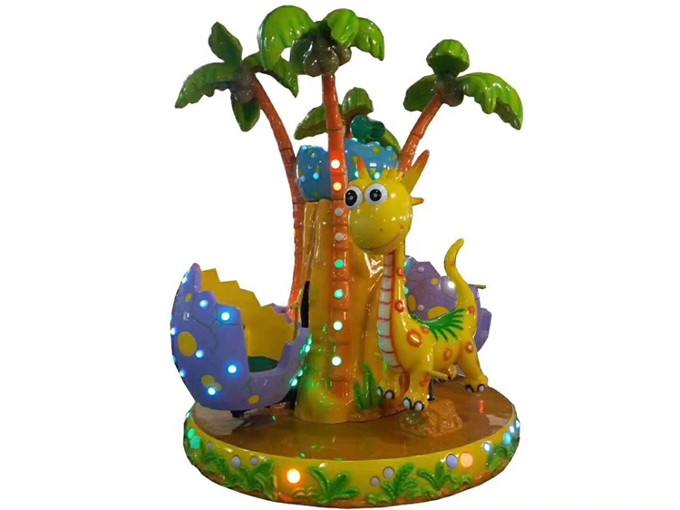 hot selling 2 players kids dinosaur park  carousel ride