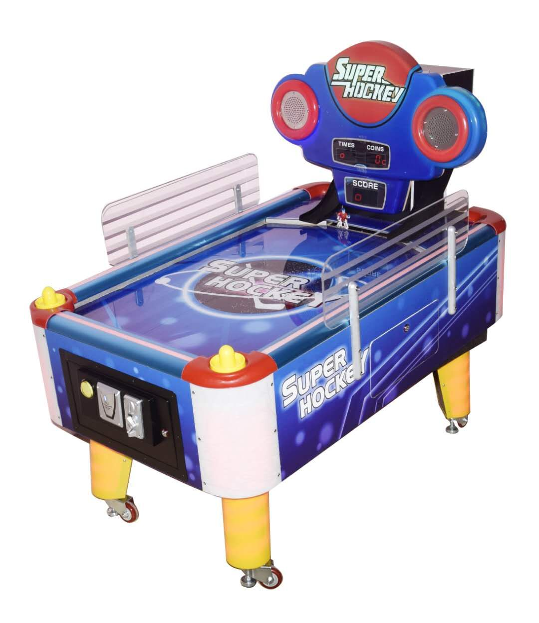 coin pusher arcade super hockey lottery game machine for sale